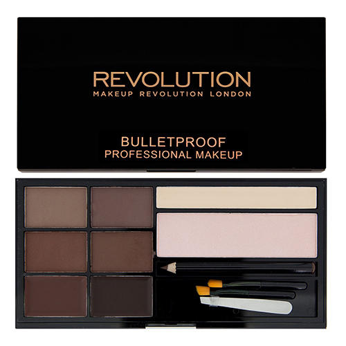 Палетка теней для бровей Ultra Brow Palette, Medium to Dark (Makeup Revolution, Брови) makeup revolution ultra cream contour палетка для контурирования