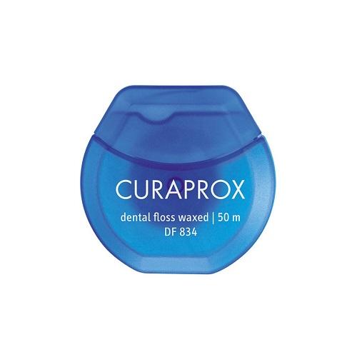 Curaprox Нить межзубная мятная 50 м 1 шт (Curaprox, Зубные нити) рокс нить зубная флосс н тосс мятная вощеная 40шт
