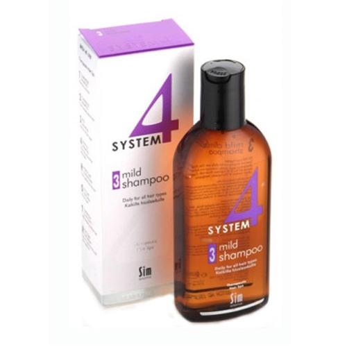 Купить Sim Sensitive Шампунь терапевтический №3 для всех типов волос профилактического применения 215 мл (Sim Sensitive, System 4), Финляндия