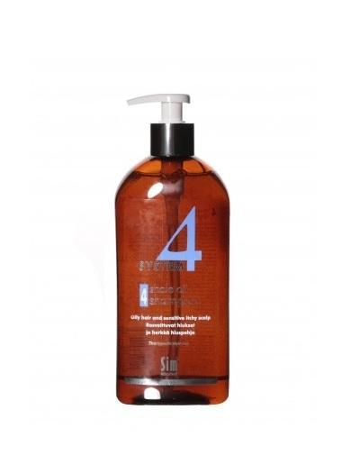 Купить Sim Sensitive Шампунь №4 для очень жирной, чувствительной и раздраженной кожи головы 500 мл (Sim Sensitive, System 4), Финляндия