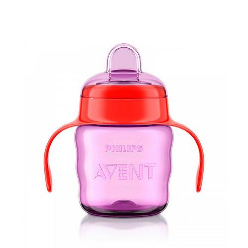 Чашкапоильник (200мл, 6мес) розовая Comfort SCF55103 (Avent, Детская посуда) авент носик для чашек поильников с клапаном 6мес 2шт scf252 00