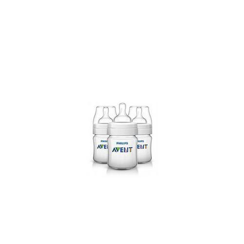 Бутылочка из полипропилена (125 мл, 0мес, 3 шт) (Avent, Classic)