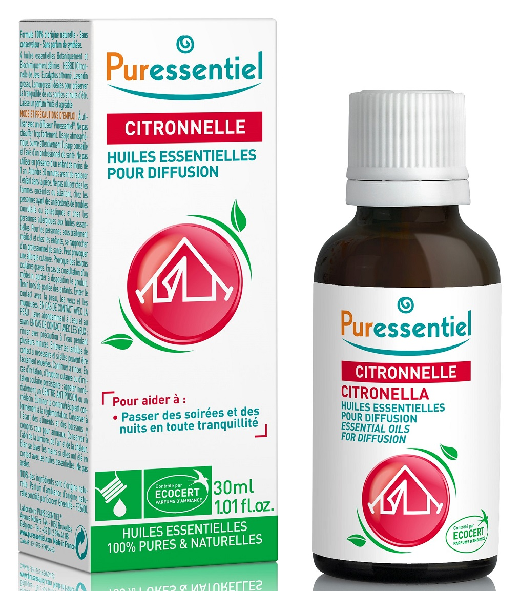 Купить Puressentiel Комплекс эфирных масел Цитронелла + 3 эфирных масла , 30 мл (Puressentiel, Отдых и Релакс), Франция