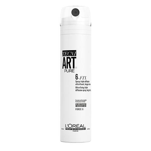 Loreal Professionnel Спрей 6-Fix Pure для фиксации волос, 250 мл (Loreal Professionnel, Techi.art) loreal professionnel многофункциональный спрей 10 в 1 190 мл loreal professionnel vitamino color