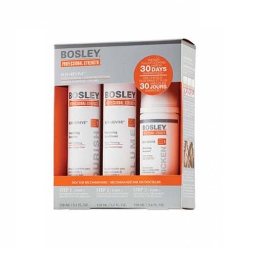 Bosley Система Оранжевая для истонченных окрашенных волос 150 мл+150 мл+100 мл (Bosley, BosRevive)