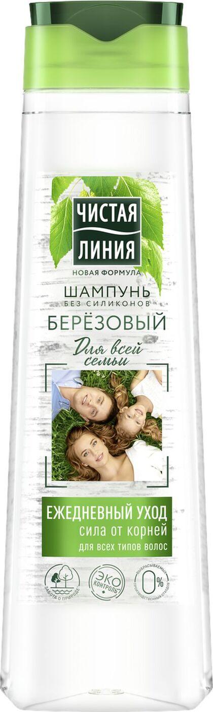 Чистая линия Шампунь Для всей семьи Берёза 400 мл (Чистая линия, Уход за волосами)