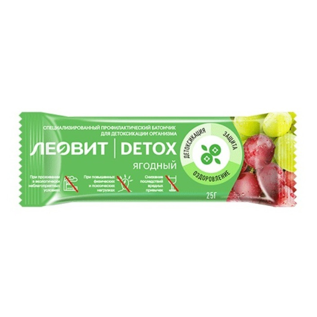 Купить Леовит Батончик детоксикационный ягодный, 25 гр (Леовит, Detox), Россия
