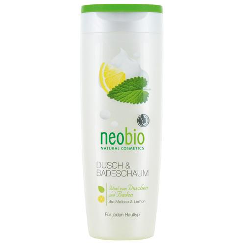 Neobio Пена для душа и ванны с био-мелиссой и лимоном 250 мл (Для тела)