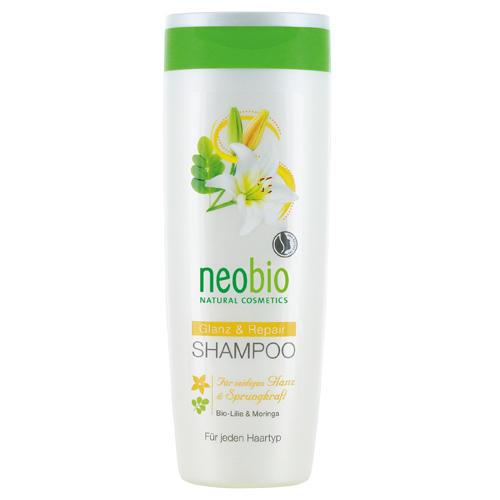 Neobio Шампунь для восстановления и блеска волос с био-лилией и морингой 250 мл (Для волос)