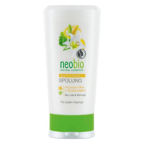 Neobio Кондиционер для восстановления и блеска волос с био-лилией и морингой 150 мл (Для волос)