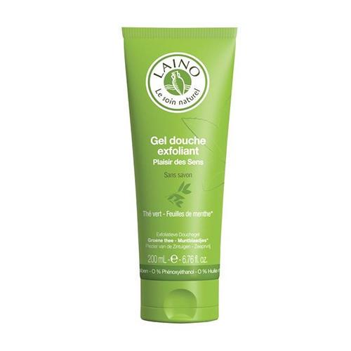 Гельэксфолиант для душа Зеленый чай с мятой 200 мл (Laino, Soins Parfumes) органический шампунь 3 в 1 для лица волос и тела зеленый чай 100 мл laino soins parfumes