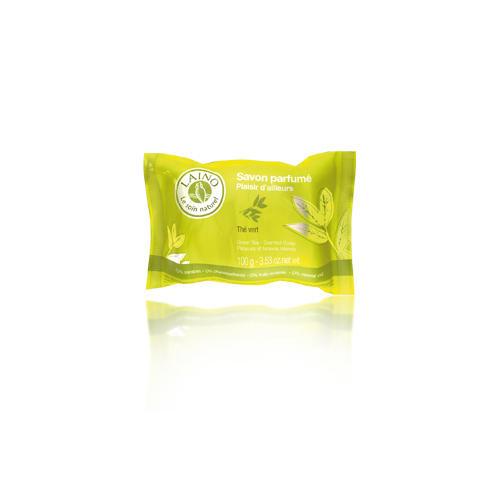 Лаино, Мыло Зелёный чай, 100 г (Laino, Soins Parfumes) laino мыло зелёный чай для тела