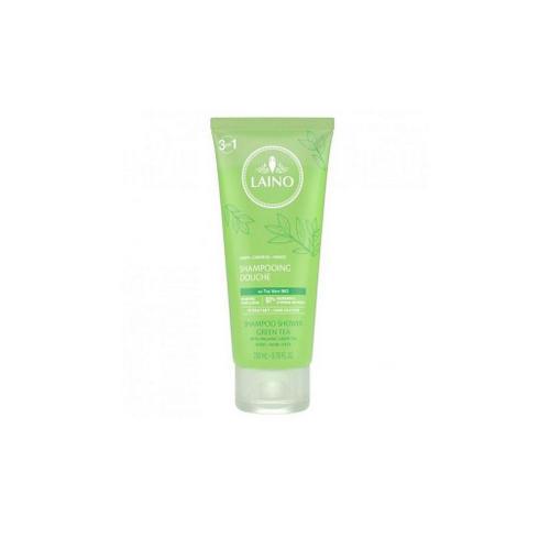 Органический шампунь 3 в 1 для лица, волос и тела Зеленый Чай, 200 мл (Laino, Gel douche)