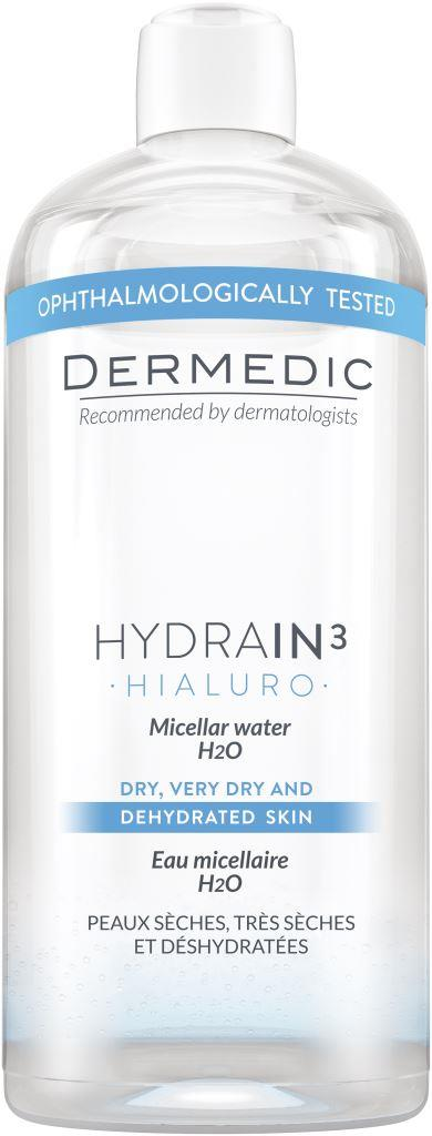 Купить Dermedic ГИДРЕИН 3 ГИАЛУРО Мицеллярная вода H2O 500 мл (Dermedic, Hydrain3)
