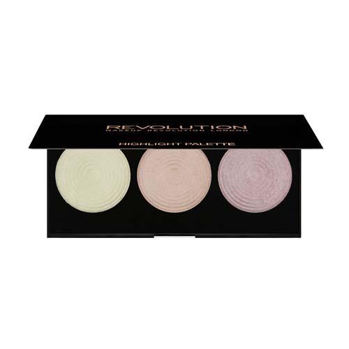 Палетка хайлайтеров Highlighter Palette (Makeup Revolution, Лицо) палетка хайлайтеров разных оттенков makeup revolution i heart revolution highlighter wardrobe