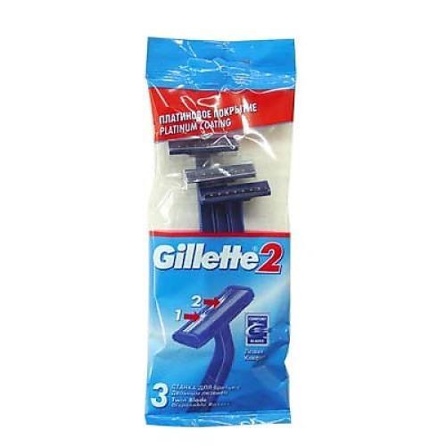 Станки одноразовые 3шт (Gillette, GILLETTEII)