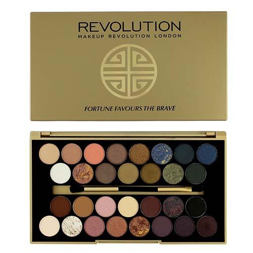 Палетка теней 30 Eyeshadow Palette Fortune Favours The Brave (Makeup Revolution, Глаза) makeup revolution salvation palette welcome to the pleasuredome hard day палетка теней