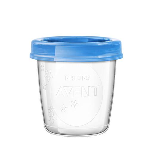 Контейнеры с крышками для хранения питания 5 шт (180 мл) (Avent, Детская посуда) philips avent контейнеры с крышками для хранения питания 5 шт 240 мл philips avent