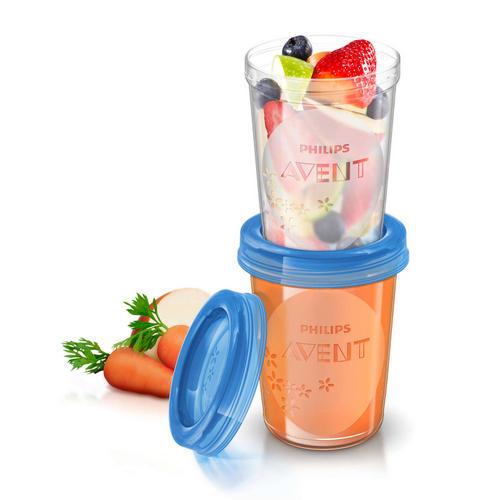 Контейнеры с крышками для хранения питания 5 шт(240 мл) (Avent, Детская посуда)