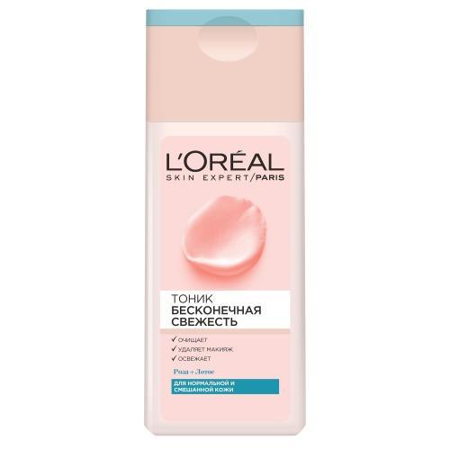 Тоник для нормальной и смешанной кожи Бесконечная свежесть 200мл (LOreal, Бесконечная свежесть)
