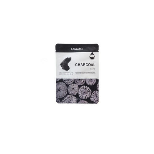 Тканевая маска с углем 23 мл (Farmstay, Для лица) frudia blueberry hydrating natural maintains moisture увлажняющая тканевая маска для лица с экстрактом черники 27 мл