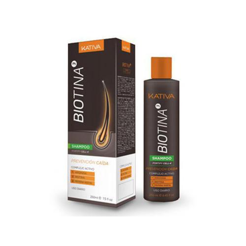 Шампунь против выпадения волос с биотином 250 мл (Kativa, Biotina)