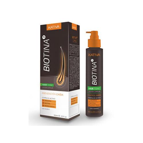 Тоник против выпадения волос с биотином 100 мл (Kativa, Biotina) сыворотка флюид kativa тоник против выпадения волос с биотином kativa biotina 100мл