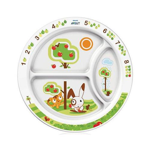 Тарелка с разделителями для порций от 12 месяцев (Avent, Детская посуда) авент тарелка с разделителями для порций от 12 мес арт 65610 scf702 00