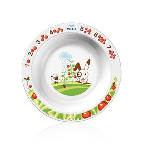 Глубокая тарелка большая от 12 месяцев (Avent, Детская посуда)