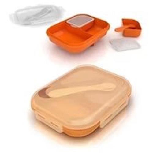 Контейнеры с крышками, ложкой и подстаканником (Детская посуда) (Avent)