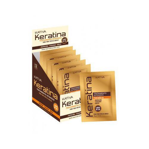 Kativa Интенсивный восстанавливающий уход с кератином для поврежденных и хрупких волос 35 г (Keratina)