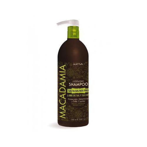 Kativa Интенсивно увлажняющий шампунь для нормальных и поврежденных волос 500 мл (Macadamia)