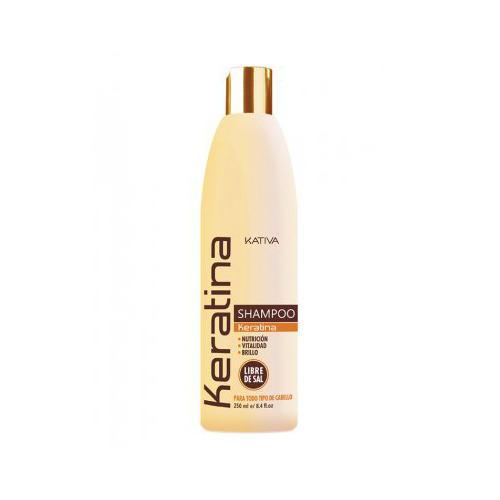 Kativa Укрепляющий шампунь с кератином для всех типов волос 250 мл (Kativa, Keratina)