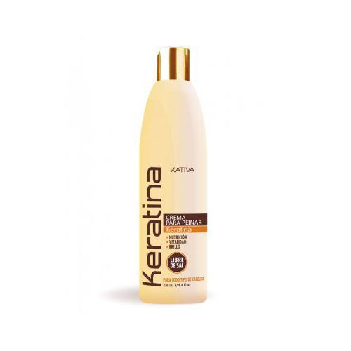 Kativa Укрепляющий крем для укладки с кератином для всех типов волос 250 мл (Kativa, Keratina)