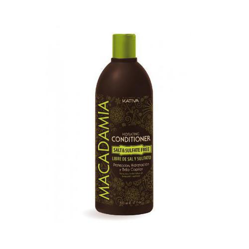 Kativa Интенсивно увлажняющий кондиционер для нормальных и поврежденных волос 500 мл (Macadamia)
