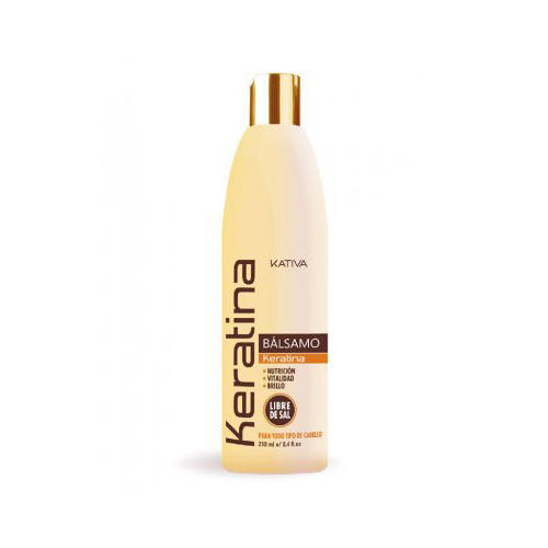 Kativa Укрепляющий бальзам-кондиционер с кератином для всех типов волос 250 мл (Keratina)