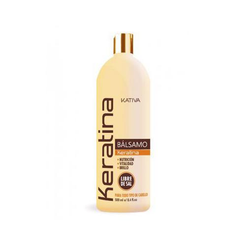Kativa Укрепляющий бальзам-кондиционер с кератином для всех типов волос 500 мл (Keratina)