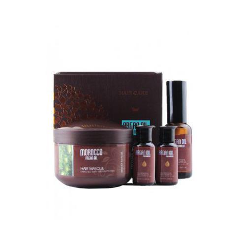 Набор Маска для волос 200мл, масло арганы 10мл х 2, 30мл (Kativa, Morocco Argan Oil) маска для волос kativa argan oil 250 мл увлажнение и восстановление