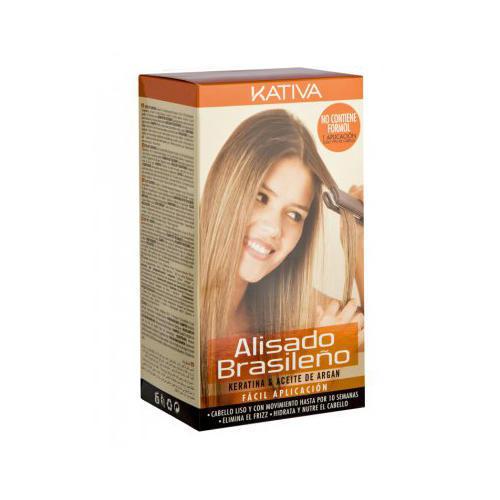 Kativa Кератиновое выпрямление и восстановление волос с маслом арганы (Kativa, Keratina)