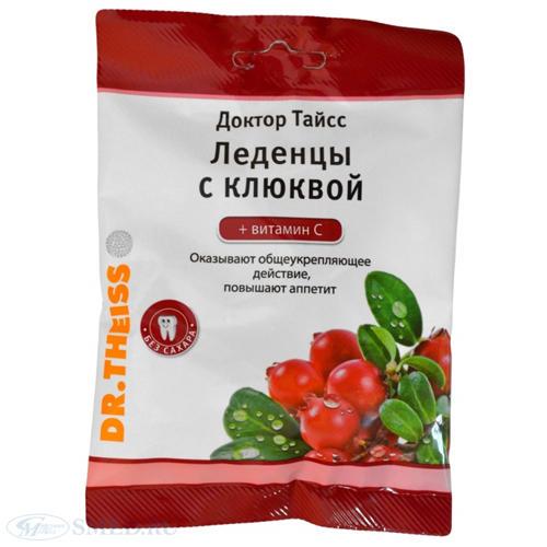 Dr.Theiss Леденцы с клюквой и витамином С 50 г (Леденцы)