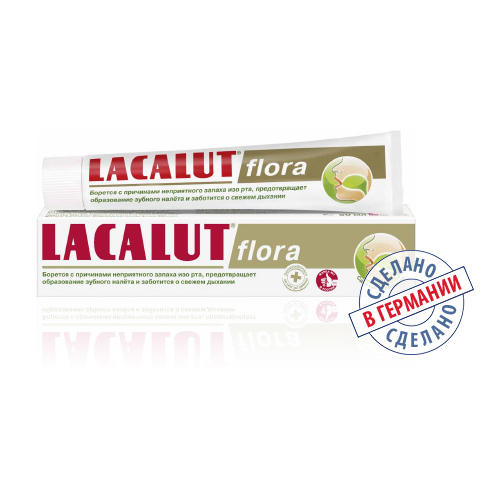 Зубная паста Флора 50 мл (Lacalut, Зубные пасты) зубная паста babyline тутти фрутти