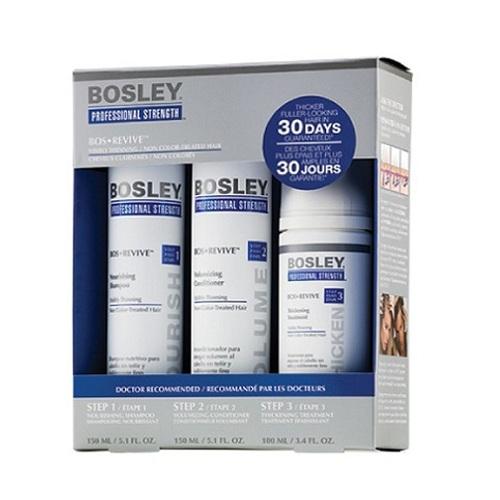 Bosley Система Синяя для истонченных неокрашенных волос 150 мл+150 мл+100 мл (Bosley, BosRevive)