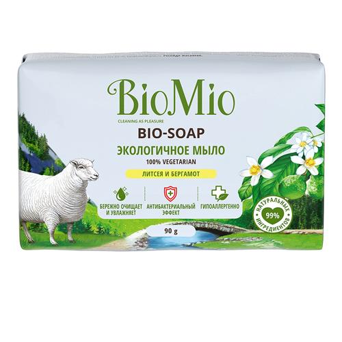 Купить BioMio Туалетное мыло Литсея и бергамот , 90 г (BioMio, Мыло), Россия