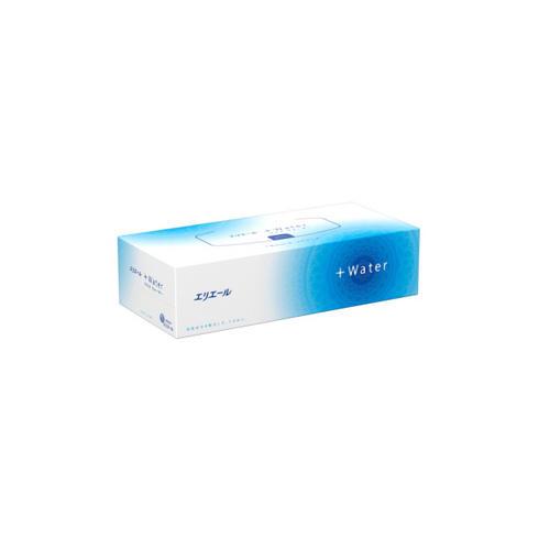 Elleair Салфетки бумажные в коробке +Water, 180 шт (Elleair, Lotion Tissue)