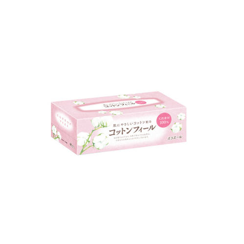Купить Elleair Салфетки бумажные в коробке Cotton Feel, 160 шт (Elleair, Cotton Feel), Япония