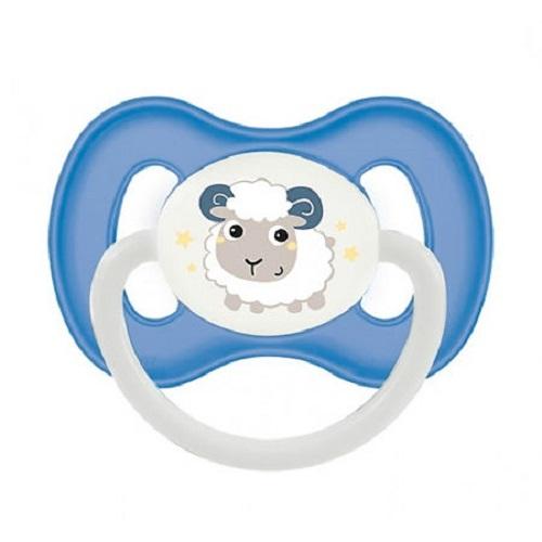 Купить Canpol Пустышка симметричная силиконовая 0-6 месяцев голубая 1 шт (Canpol, Bunny & company), Польша