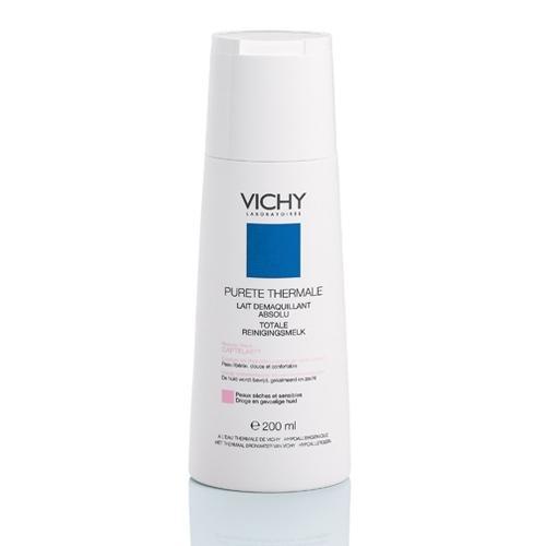 Молочко Детокс для снятия макияжа для сухой и чувствительной кожи. Пюрте Термаль 200 мл (Vichy, Purete Thermal) пюрте термаль совершенствующий тоник 200 мл vichy purete thermal