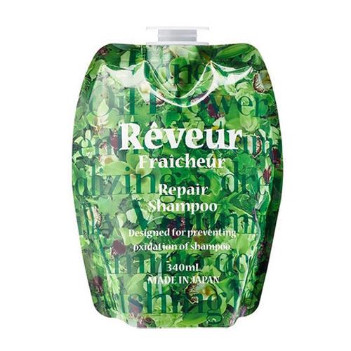 Reveur Fraicheur Repair Запасной блок Живой Бессиликоновый шампунь для восстановления волос 340 мл (Reveur, Reveur Fraicheur) шампунь reveur rich repair