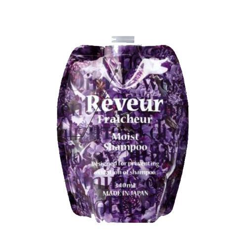 Reveur Fraicheur Moist Запасной блок Живой Бессиликоновый шампунь для увлажнения волос 340 мл (Reveur Fraicheur)