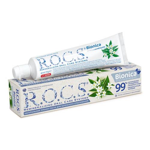 R.O.C.S. Зубная паста Бионика Отбеливающая 74 гр. (R.O.C.S., Для Взрослых), Россия  - Купить